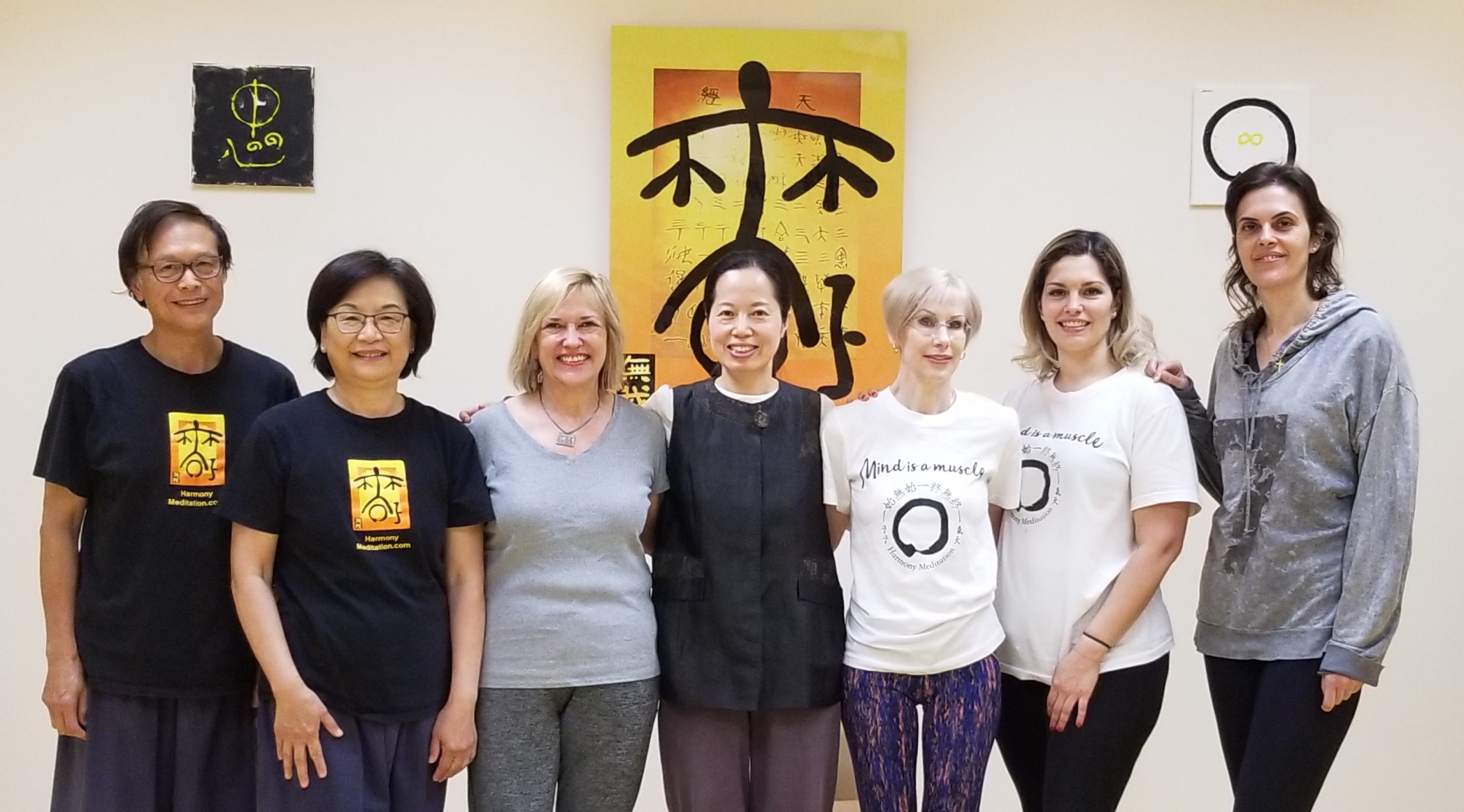 Group picture after a meditation workshop